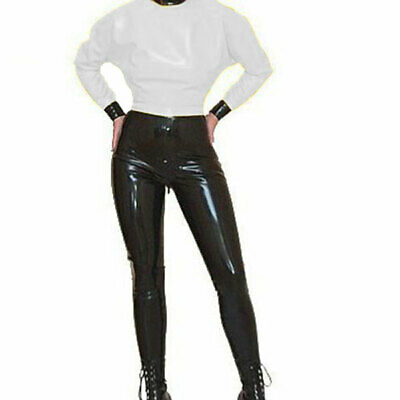 Latex Catsuit Rubber uniform Tights Bodysuit Gummi Unisex Overall Ganzanzug