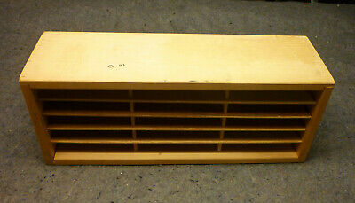 Vintage Napa Valley 30 Compact Disc CD Wooden Storage Desktop or Wall Mount Rack