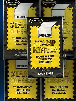 Supersafe Stamp 1000 Hinges 5 Packages GREAT PRICE + Free Shipping