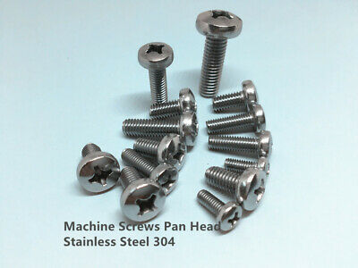 M2 M2.5 M3 M4 M5 Machine Screw Pan Head Phillip Stainless Steel 304 Metric