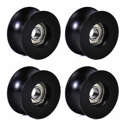 4Pcs 0840UU 8mm Groove Guide Pulley Sealed Rail Ball Bearing 8x40x20.7mm H&PLTA