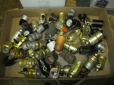 Vintage Salvaged Items Lamp Sockets - Parts / Stuff Drawer Clean Out!