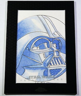 2014 Topps Star Wars Chrome Perspectives Darth Vader Sketch Card by Roy Cover