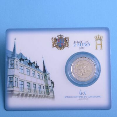 """Luxemburg 2 Euro 2012 """"Guillaume / Willem IV"""" Coincard"""