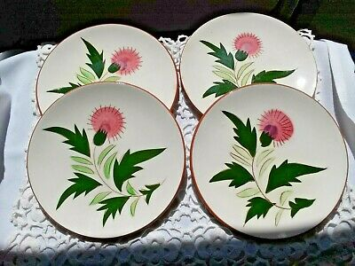 Antique Stangl Pottery~4 Bread Dishes ~ Thistle Pattern