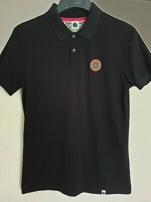 4c2796bfdbc2 Pretty Green X The Beatles Sgt Peppers Lonely Hearts Club Polo - Black  Medium