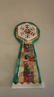 Christmas Door Knob Decoration Snowflake with Tiny Bells NOS New Japan Vintage