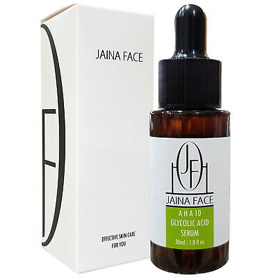 Glycolic Acid 10% AHA Chemical Peel Face Acne Pimples Scars Wrinkles Pores Serum