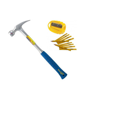 Estwing E3/24S  24oz Smooth Face Straight Claw Framing Hammer with Vinyl Grip
