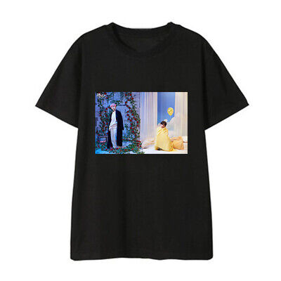 Kpop BTS Map of The Soul: Persona Photo Print T-shirt Unisex Casual Shirt 2019
