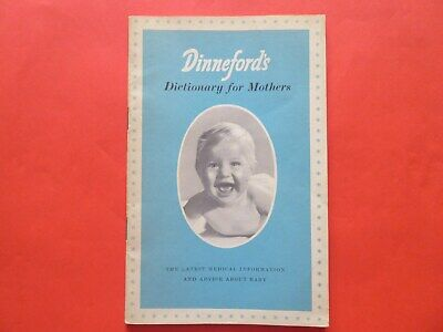 Dinneford's Dictionary for Mothers  1950s  Collectable VGC