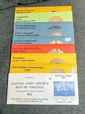 Reproduction Parchment HDC First Settlers of Jamestown 1607 & 9 others SEE BELOW