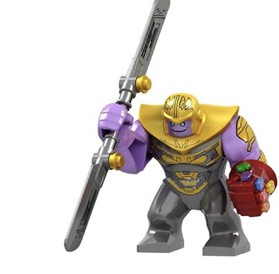 Thanos MiniFigure + Double Sword + Red Gauntlet Fits Avengers End Game Marvel