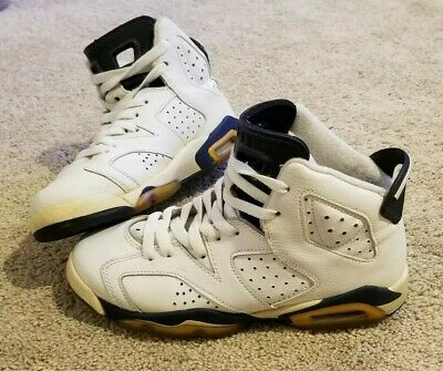 outlet store a7bd3 c9b5e 2000 Nike Air Jordan VI 6 Retro GS - WHITE MIDNIGHT NAVY - 134171-141