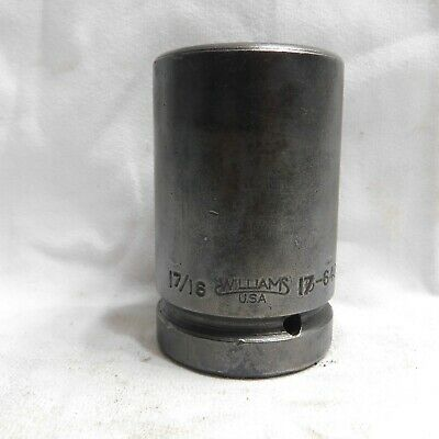 """Williams 1"""" Drive 1-7/16"""" Deep Well Impact Socket 17-646 - Made in the USA"""