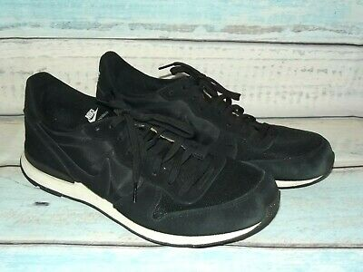 finest selection cf1df 5c3ff NIKE Internationalist iD Black Leather Running Sneakers Mens Size 11