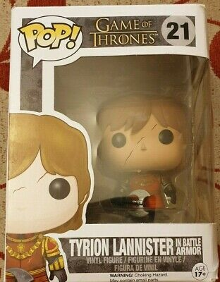Funko Pop Vinyl - Game Of Thrones: Tyrion Lannister In Battle Armour Figure #21