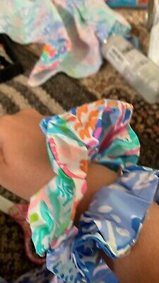 Handmade Colorful Lilly Pulitzer Scrunchie Turtley Awesome Mermaid Cove print