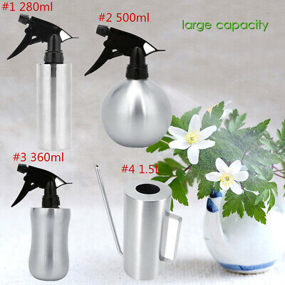 280/360/500ml Gardening Tool Stainless Steel Watering Can Plant Spray Bottle New