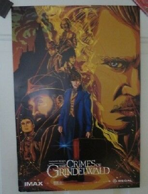 Fantastic Beasts Crimes of Grindelwald IMAX 13x19 Promo Movie POSTER Please read
