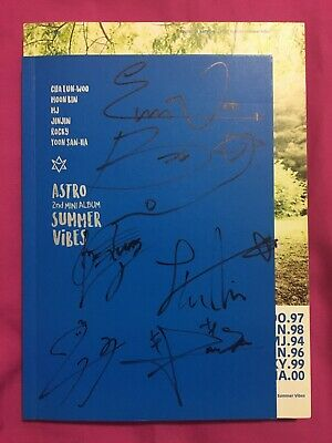 ASTRO (아스트로) Signed All Members Kpop Summer Vibes 2nd Mini Album From Mwave