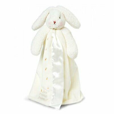 WHITE Plush Toy and Comfort Blanket Bunnies By The Bay Buddy Blanket Bunny