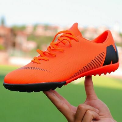 4741eb337 Men Shoes Soccer Boots Indoor Turf Futsal Sneakers TF Long Spikes Cleats  Sports