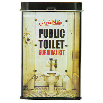Archie McPhee Portable Easy-To-Use Public Toilet Survival Handy Sanitary Kit