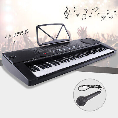 Electric Digital Piano Organ 61 Keys Musical Electronic Keyboard with Microphone