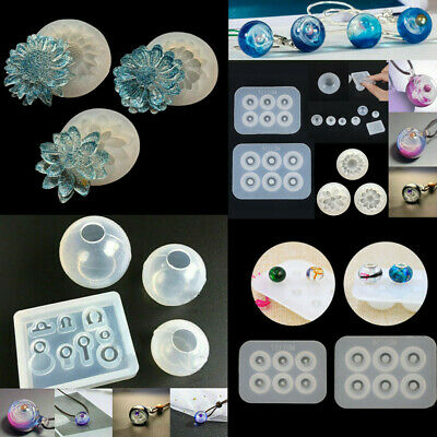 Silicone Mold Flower Ball Epoxy Resin Mould DIY Jewelry Making Crafts Decoration