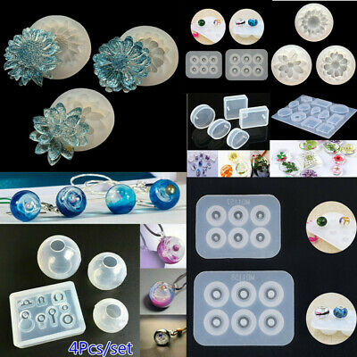 Silicone Mold Flower Ball Epoxy Resin Mould Set DIY Jewelry Crafts Making Tool