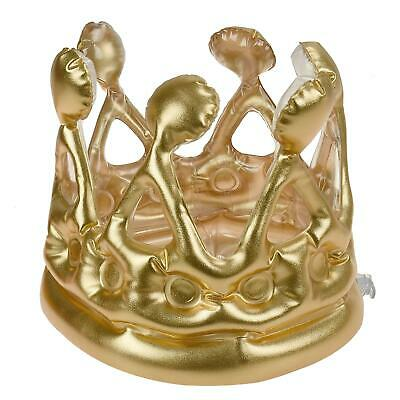 1PCS Inflatable Gold Crown King Queen The Day Costume Party Halloween Birth K8D1