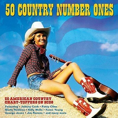 50 VINTAGE  American Country And Western Number 1 GREATEST HITS NEW SEALED 2CD.