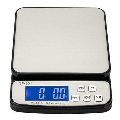 110 LB x 0.1oz All-In-One Pro Digital Postal Shipping Scale Weigh with Adapter
