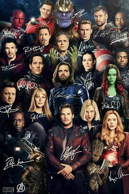 Avengers Endgame Signed Movie 2019 Art Silk Poster 12x18 24x36