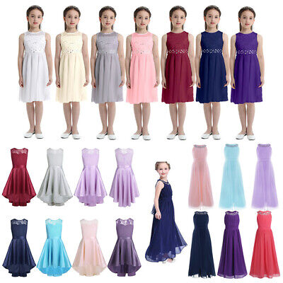 Formal Kids Pageant Princess Dress Flower Girl Dress for Wedding Bridesmaid Gown