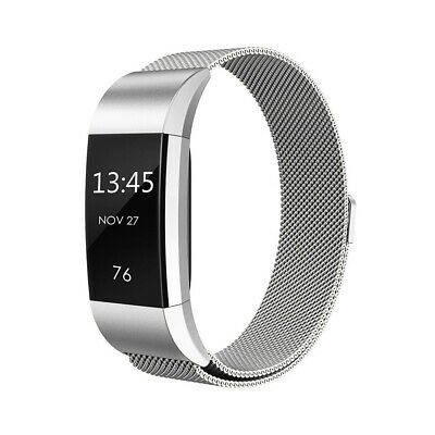 Magnetic Milanese Stainless Steel Ersatz Uhrenarmband für Fitbit Charge 2 TH642