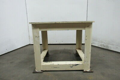 "36x30x30"" Steel Machine Base Welding Work Bench Table 3/4"" Machined Surface Top"