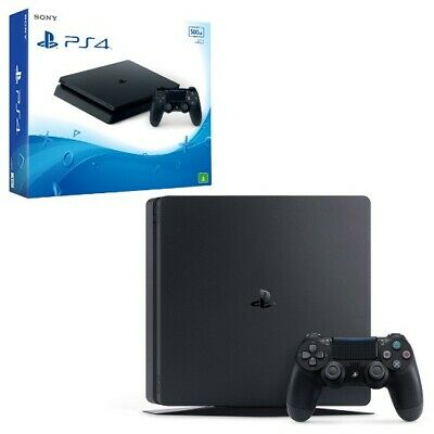 PS4-Sony PlayStation 4 Slim Black 500GB Console (Brand New )