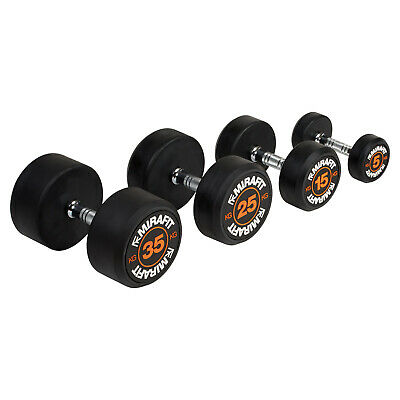 Mirafit Rubber Dumbbells Free Weights Gym Workout/Weight Lifting Dumbell Set
