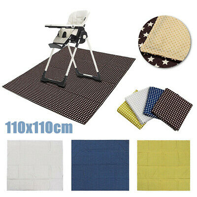 Baby High Chair Floor Mat Infant Toddler Feeding Table Toys Floor Protector Kids