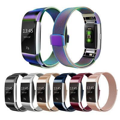 Magnetic Stainless Steel Uhrenarmband Band für Fitbit Charge 2 Smart Watch
