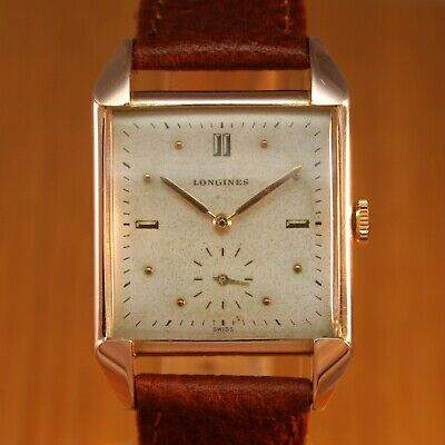 1946 LONGINES Gents Art Deco Vintage Swiss Watch / Gold Filled / JUST SERVICED