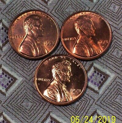 1973-P/D/S Lincoln - Memorial Cent's ( 3 Coin's )  ( Itm #8852 )