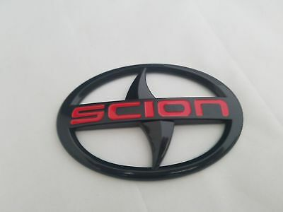 Black Fit Scion FRS TC IQ XB XD Front Grille Bumper Emblem Logo Badge Head Decal
