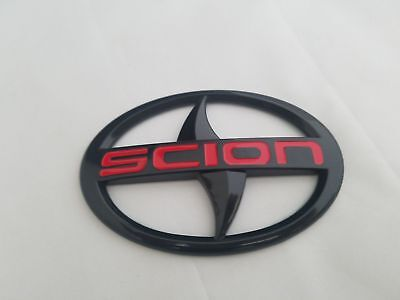 Black Fit Scion FRS TC IQ XB XD Front Grille Bumper Emblem Logo Badge 2004-2016