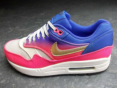 Nike Air Max 1 90 270 Command Classic 38 / 39 Weiss Pink Blau Gold Top Zustand