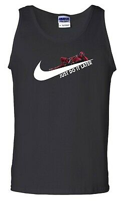 Just Do It Later Vest Funny Lazy Summer Nike Parody Deadpool Gift Men Tank Top