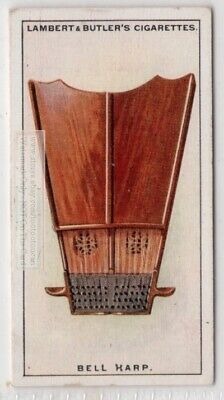 1700s English Bell Harp Box Zither Music Instrument 1920s Ad Trade Card