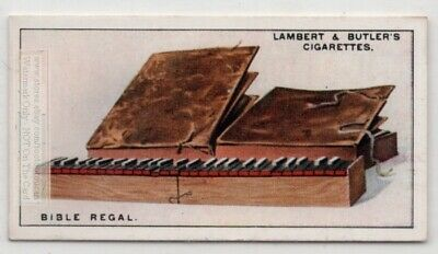 1500s Bible Regal Folding Pipe Organ Music Instrument 1920s Ad Trade Card